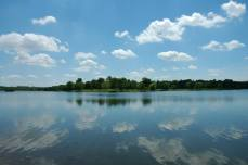 A View of Easter Lake from the Dam on a beautiful Spring day.