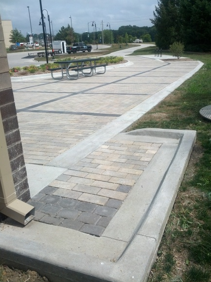 Finsihed Pavers at Copper Creek Lake in Pleasant Hill, IA.
