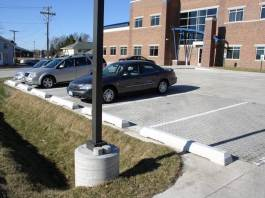 Portions of parking lot can be done with pavers to manage large columes of water.