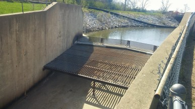 Improved Spillway, Easter Lake 2015