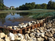 September 2017 - wetland is constructed and seeded.